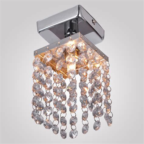 Flush Mount Mini Chandelier Us Sale Chrome Mini Semi Flush Mount Chandelier Pendant Ceiling Lighting Ebay