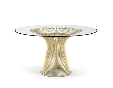 warren platner dining table platner gold plated dining table hivemodern com