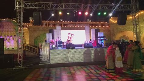 Wedding Led Background by Complete Dj Sound Light Stage Setup With Led Wall