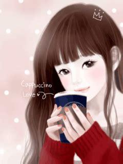 cute korean anime girl wallpaper google search