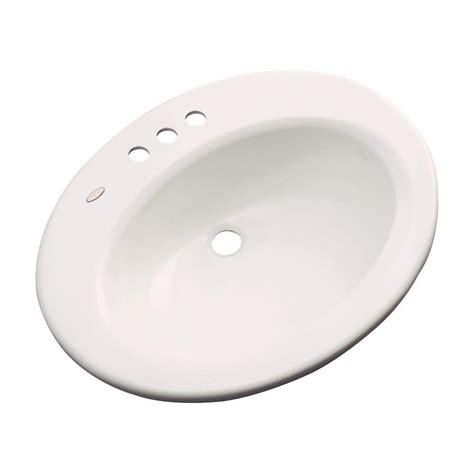thermocast tierra drop in bathroom sink in bone 85401