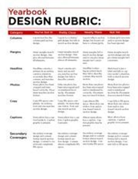 yearbook layout rubric yearbook spreads pages rubrics checklists for grading