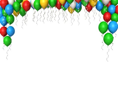 cornici per powerpoint 0914 colorful balloons for birthday celebrations stock