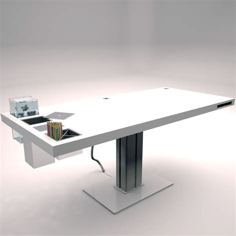 Milk Desk Has Fish Swimming In It by Holmris Milk Desk 3d Model