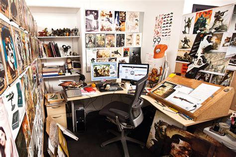 desk for digital artist king kong artist reveals inspirational workspace