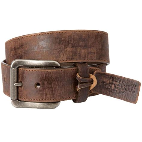 justin s burnished brown rugged leather belt