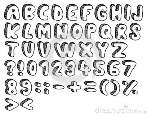 doodle graffiti fonts free doodle font stock image image 27586651