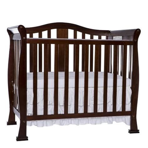 Espresso Mini Crib On Me Naples 4 In 1 Convertible Mini Crib In Espresso 633 E