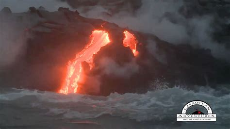 hawaii lava boat tour youtube volcano boat tour see lava in hawaii youtube
