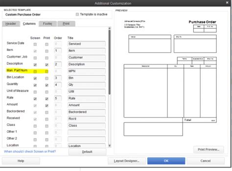 quickbooks sales order template how to add a manufacturer part number to purchase orders