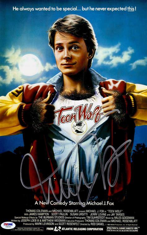michael j fox wolf movie michael j fox teen wolf movie 11x17 movie poster psa