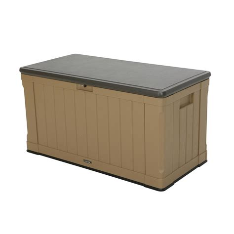 lifetime 116 gal polyethylene outdoor deck box 60167