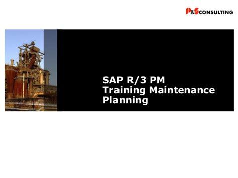 sap xmii tutorial ps sap pm maintenance planning