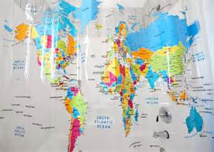 map fabric shower curtain home world map shower curtain 171 fabric shower cutains dot