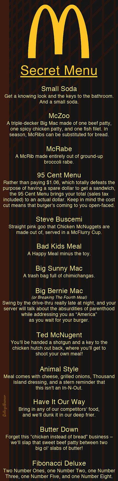 secret menu 3 secret restaurant menus you probably don t want to try