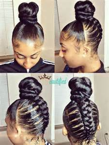 braided hair buns for black creative braided bun via ezbeautified read the article