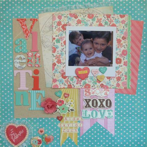 scrapbook layout valentine 198 best valentines scrapbook layout images on pinterest