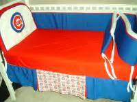 Cubs Crib by Baby Nursery Crib Bedding Set W Chicago Cubs Fabric New