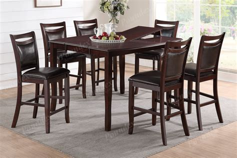Dining Room Set High Chairs 7pc Dining Set Counter Height Table High Chair Chairs