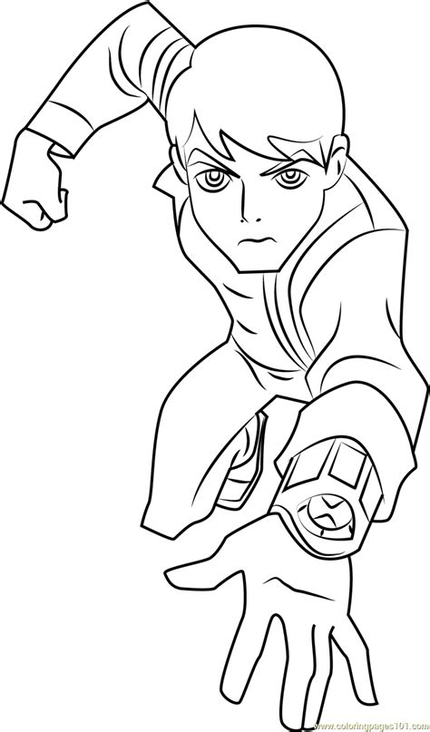 ben 10 omniverse free colouring pages