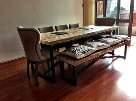 etsy dining table reclaimed wood industrial mill reclaimed wood dining table and benches