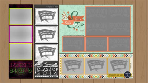 custom templates photo booth graphics photo booth graphics design shop
