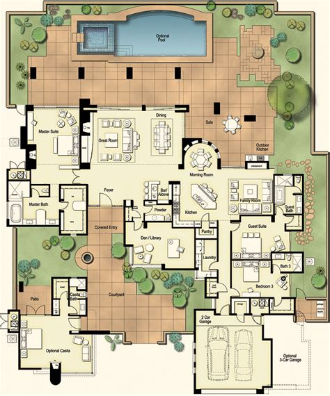 custom luxury home plans hometalk tucson custom home hacienda floor plan