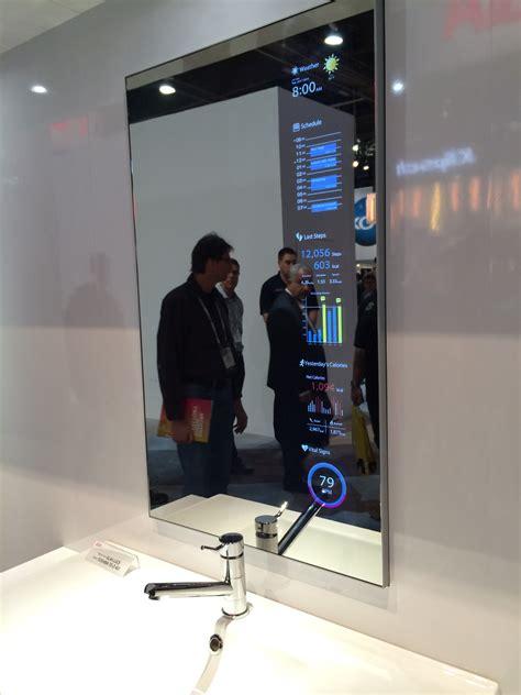 smart bathroom mirror smart mirror display shut up and take my money