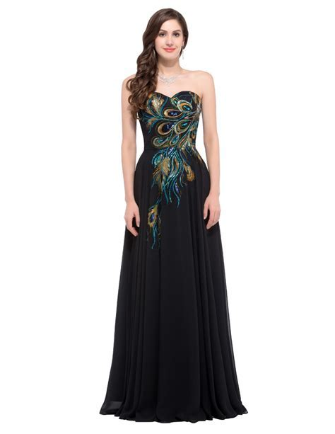 Peacock Peacock Cocktail Formal Evening Gown Party Dress