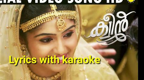queen film lyrics vennilave lyrics with karaoke video song hd queen