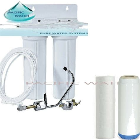 Sink Filtration System by Sink Dual Water Filtration System Carbon Kdf And