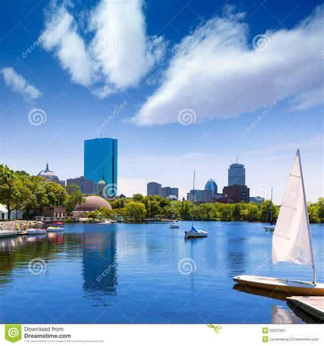 sailboats usa boston sailboats charles river at the esplanade stock