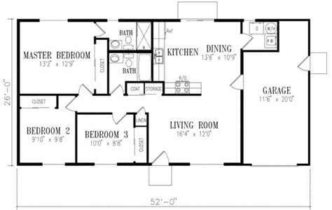 2 bedroom house plans with garage 1046 square feet 3 bedrooms 2 batrooms 1 parking space