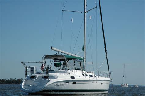 most comfortable liveaboard sailboat hunter 456 popular coastal cruiser or liveaboard sailboat