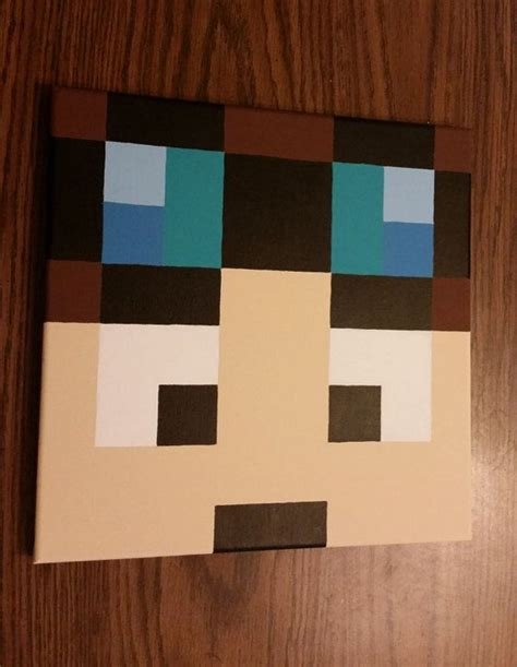 Painting Minecraft by Dan Tdm Minecart Minecraft Bedroom Decor