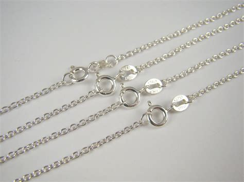 silver chains for jewelry solid 925 sterling silver chain link necklace cable chain