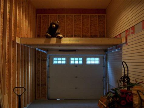 Garage Mezzanine Plans by Door Mezzanine Garage Organization