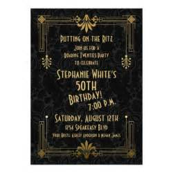 personalized roaring 20s invitations custominvitations4u
