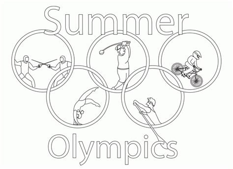 Olympic Coloring Pages by 2016 Summer Olympic Coloring Pages Sketch Coloring Page