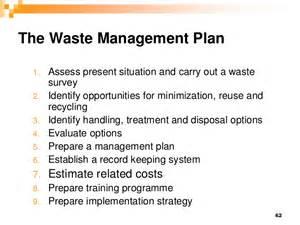 waste management plans template hm 2012 session vi waste management