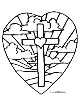 easter coloring pages print cross freecoloring4u com