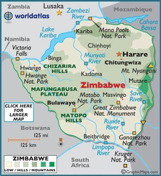 printable map of zimbabwe in africa geography of zimbabwe landforms world atlas