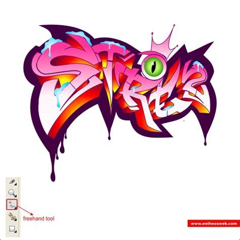 cara membuat outline graffiti dedefis membuat cepat grafiti efek teks