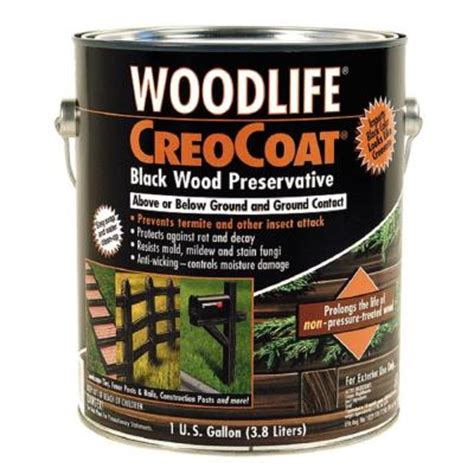 wolman 1 gal creocoat black below ground wood