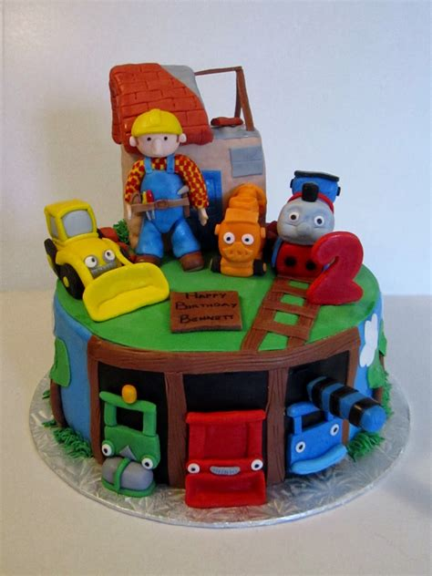 builder engine themes cakes or something like that bob the builder and thomas