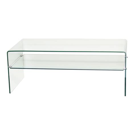 clear glass table l clear bent glass coffee table with shelf 3 8 quot inch