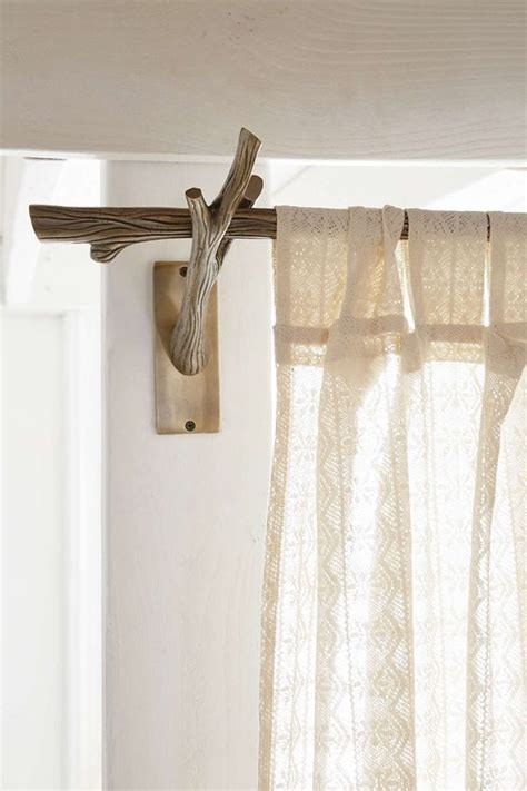 Nursery Curtain Rods 17 Best Ideas About Branch Curtain Rods On Hang Curtains Wooden Curtain Rods And