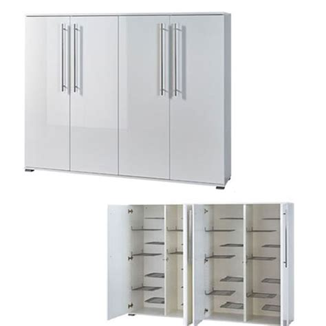 Shoe Storage Cabinets With Doors Inside Shoe Storage Cabinet With White Gloss Doors