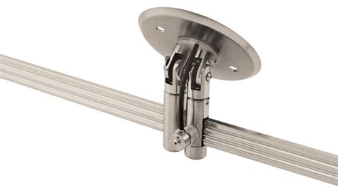 Sloped Ceiling Track Lighting Monorail 2 Circuit Sloped Ceiling Dual Feed Canopy Modern Track Lighting Accessories