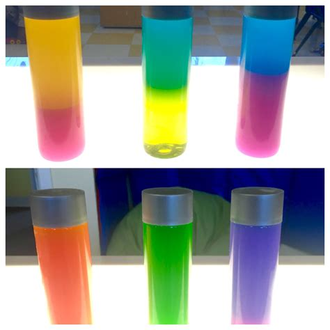 colors and bottles color mixing sensory bottles and water in voss water